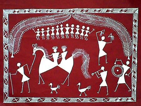 tribal art paintings. Paintings in the Indian